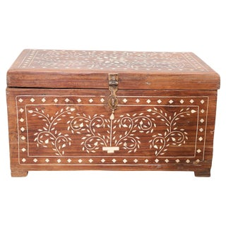 Small Bone Inlay Wood Trunk