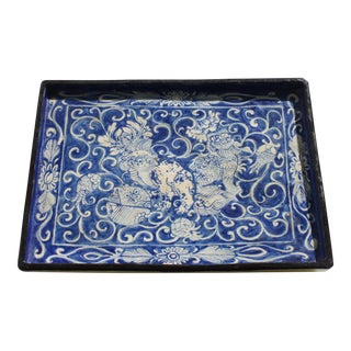 Late 19th Century Japanese Porcelain Rectangular Tray