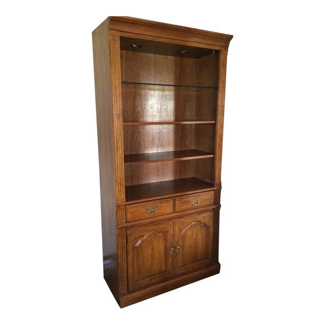 Thomasville Cherry Wood Bookcase Chairish