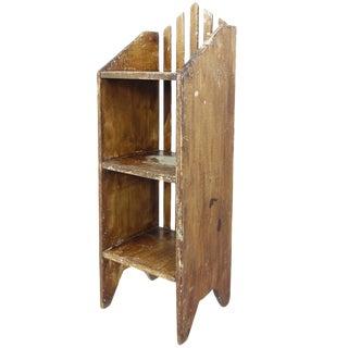 Primitive Painted Three-Tier Shelf