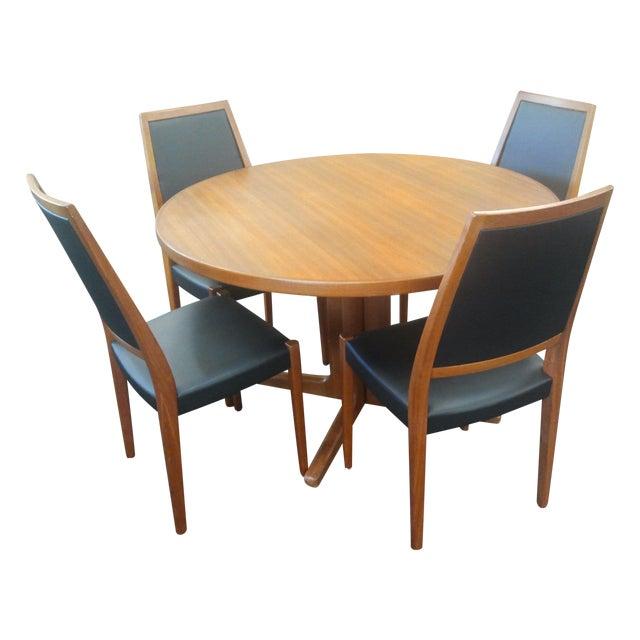 Teak Dining Room Set: Danish Mid Century Modern Teak Dining Set