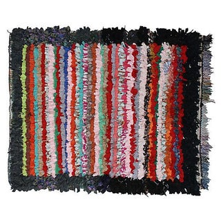 Striped Moroccan Rug - 4'6'' X 4'