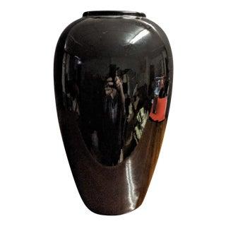 Haeger Black Oil Jar Vase