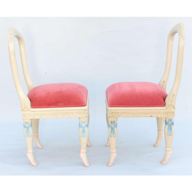 Set of Four Ballerina Side Chairs - Image 4 of 10