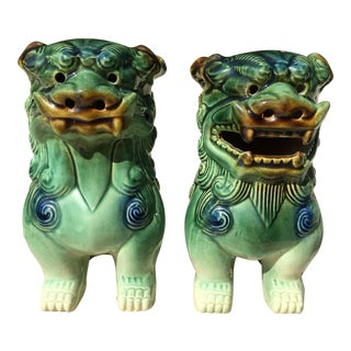 Foo Dog Figures- A Pair