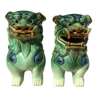 Foo Dog Figures- A Pair