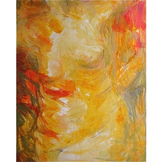 """Gold Torso Red Wrap"" Oil by Trixie Pitts 48""x36"""