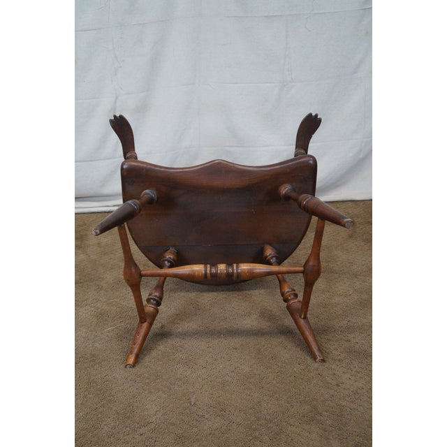 Custom Fan Back Windsor Arm Chairs - A Pair - Image 9 of 10