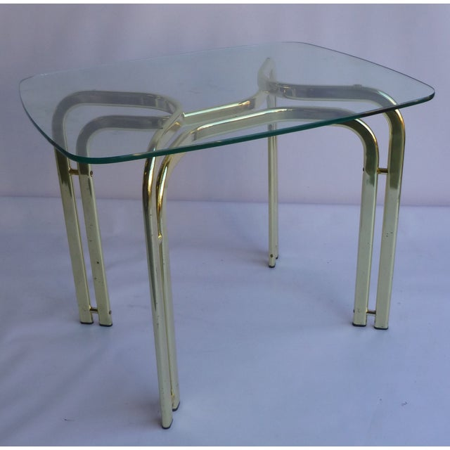 Milo Baughman Brass and Glass End Table - A Pair - Image 3 of 6