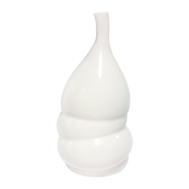 Image of Modern White Ceramic Bubble Vase