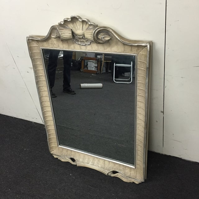 Image of Ivory Carved Wood Wall Mirror by Casaragi