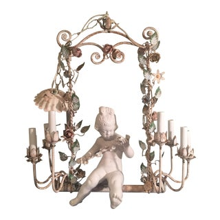 Antique Italian Florentine Chandelier