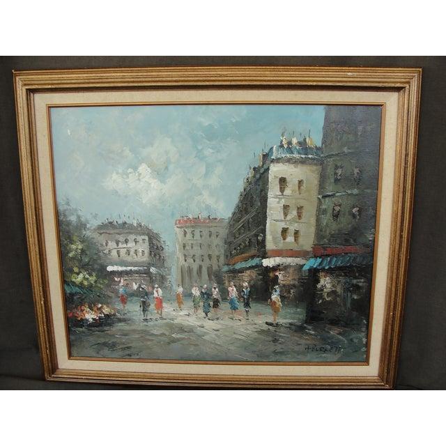 Mid-Century Paris Oil Painting by Burnett - Image 2 of 7