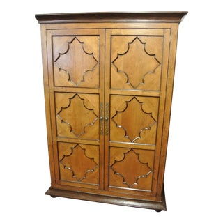 Jean Michel Arrigona Alder Wood Carved Armoire