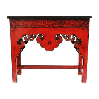 Red Mongolian Painted Console