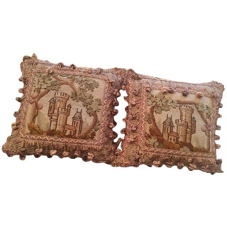 Needlepoint Pillows - A Pair