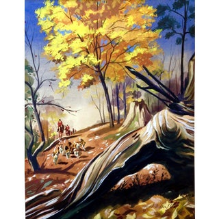 """Conrad Moulton """"The Fox Hunt"""" Giclee Print of the Painting"""