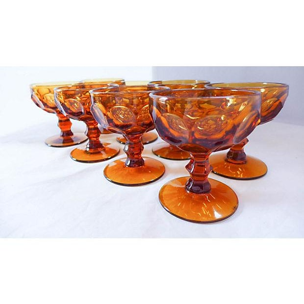 Amber Sherbet Glasses - Set of 8 - Image 5 of 6