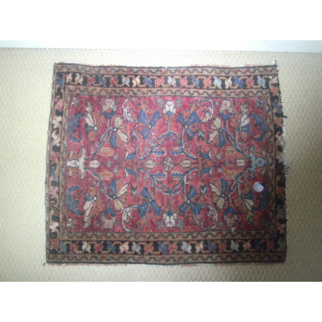 Small Traditional 1900s Red Blue Rug - 2'' x 2'' - Image 3 of 8
