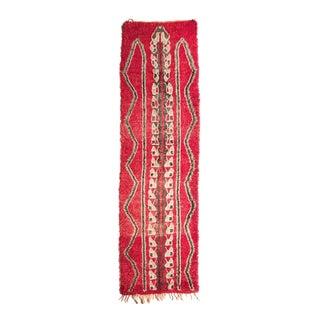 Vintage Moroccan Wool Talsint Runner - 3′ × 10′