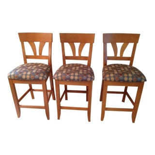 Saloom Maple Counter Stools - Set of 3