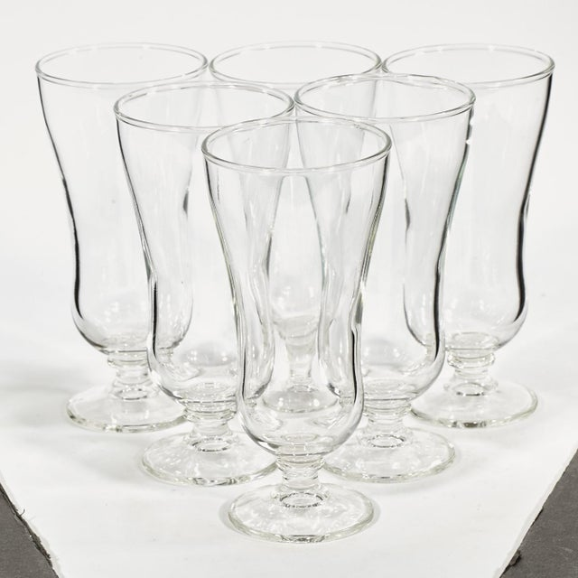 60s Clear Parfait Glass Stems - Set of 6 - Image 3 of 4
