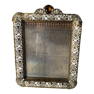 Hollywood Regency Ornate Jeweled Frame