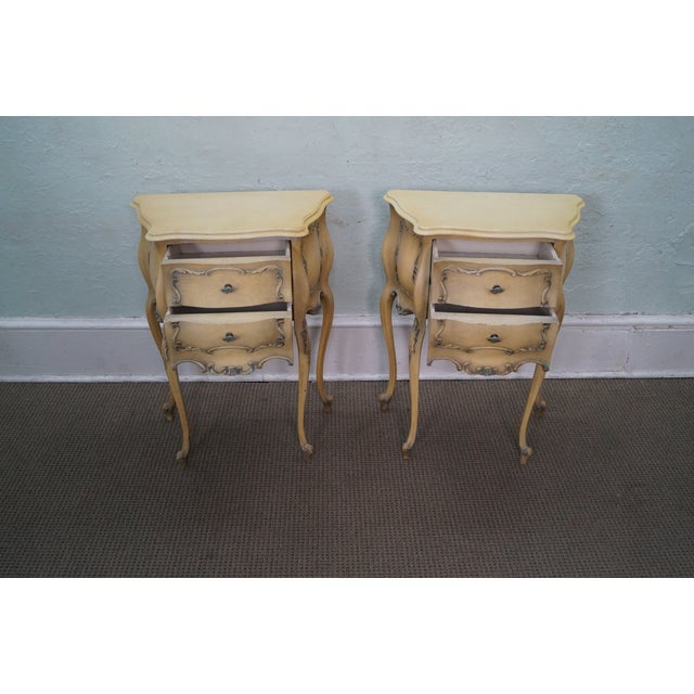 Vintage 1940s Painted Bombe Nightstands - A Pair - Image 2 of 10