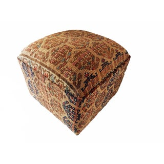 Antique Tribal Herat Rug Ottoman