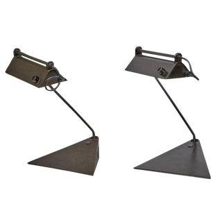 1960 Koch & Lowy Adjustable Desk Lamps - A Pair
