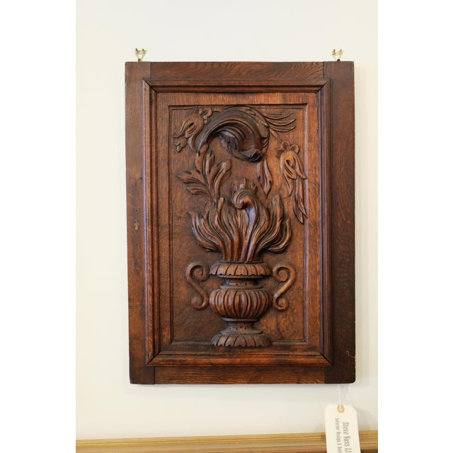 Antique European Carved Walnut Panel - Image 4 of 5