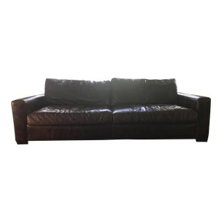Restoration Hardware Maxwell Leather Sofa