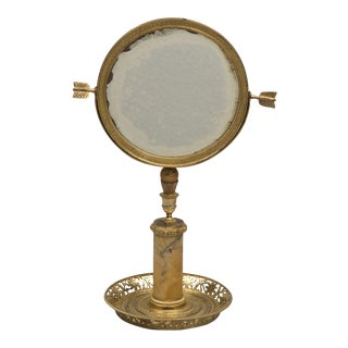 French Ormolu Mirror on Stand