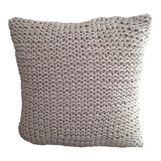 Nubby Chunky Neutral Knit Pillow Cover