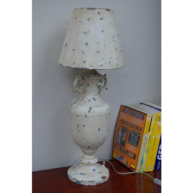 Cream Metal Nostalgia Primitive Table Lamp - Image 2 of 5