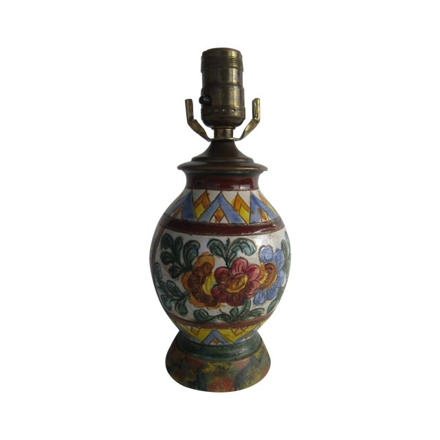 Early 20th Century Italian Pottery Lamp - Image 1 of 10