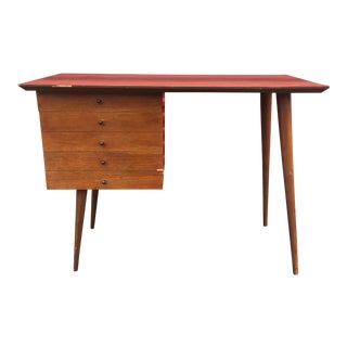 Mid-Century Modern Three Drawer Desk
