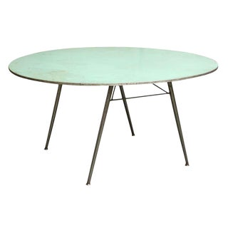 Blue Round Fold Up Table