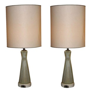Pair of Murano Glass Table Lamps by Barovier, Italy circa 1950's