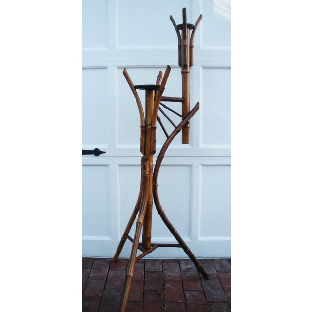 Antique Bamboo Plant Stand Aesthetic Movement - Image 2 of 8