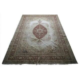 "Antique Anatolian Area Rug - 8'7"" X 12'1"""