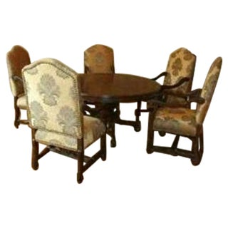 Stately Wooden Dining Set - Set of 6