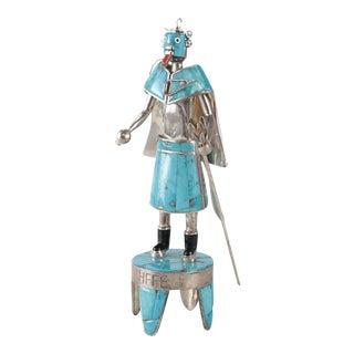 Sterling Silver Precious Stone Inlay Kachina Doll