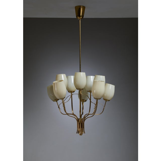 Paavo Tynell Chandelier for Sokos Helsinki House, Taito, Finland, 1950s - Image 3 of 5