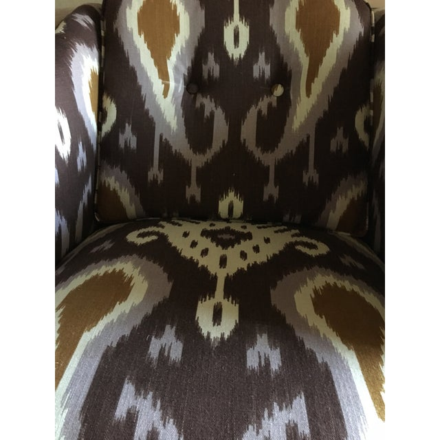 Ikat Linen Chair - Image 3 of 5