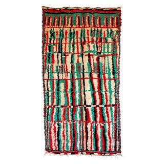 "Vintage Azilal Moroccan Berber Rug - 4'8"" X 8'7"""