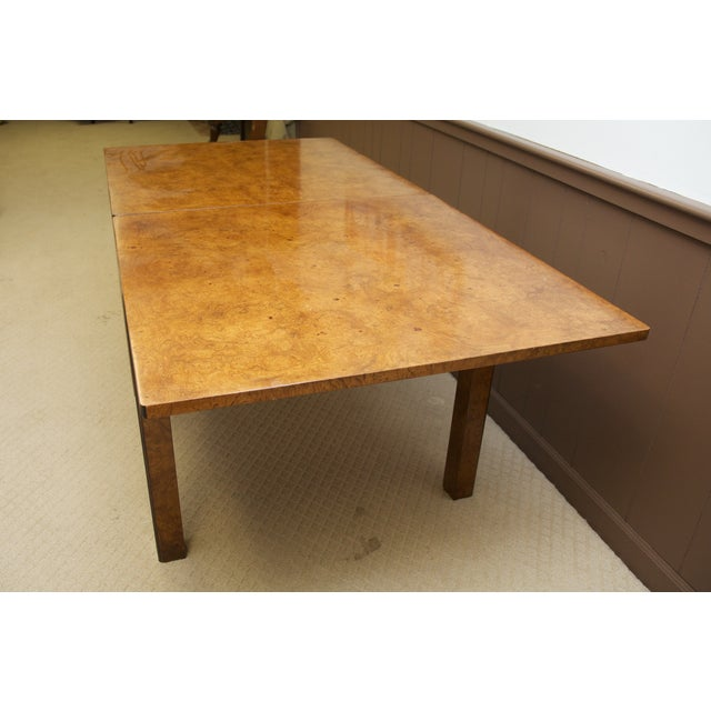 Burl Wood Fliptop Expandable Dining Table - Image 6 of 9