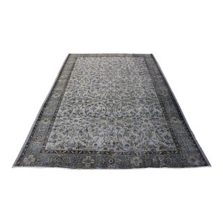 "Gray Color Turkish Overdyed Rug - 6'1"" x 9'4"""