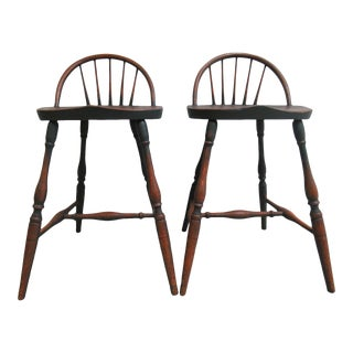 Pair of Custom R Hofer Winsor Back Counter Bar Stools