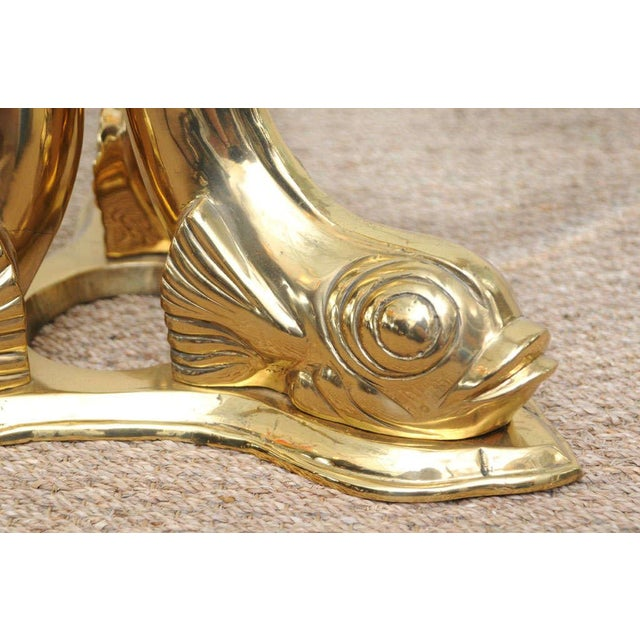 Brass Dolphin Coffee Table Chairish